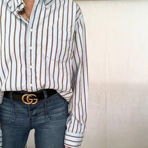 VINTAGE/ ⚥ stripe oversized button up